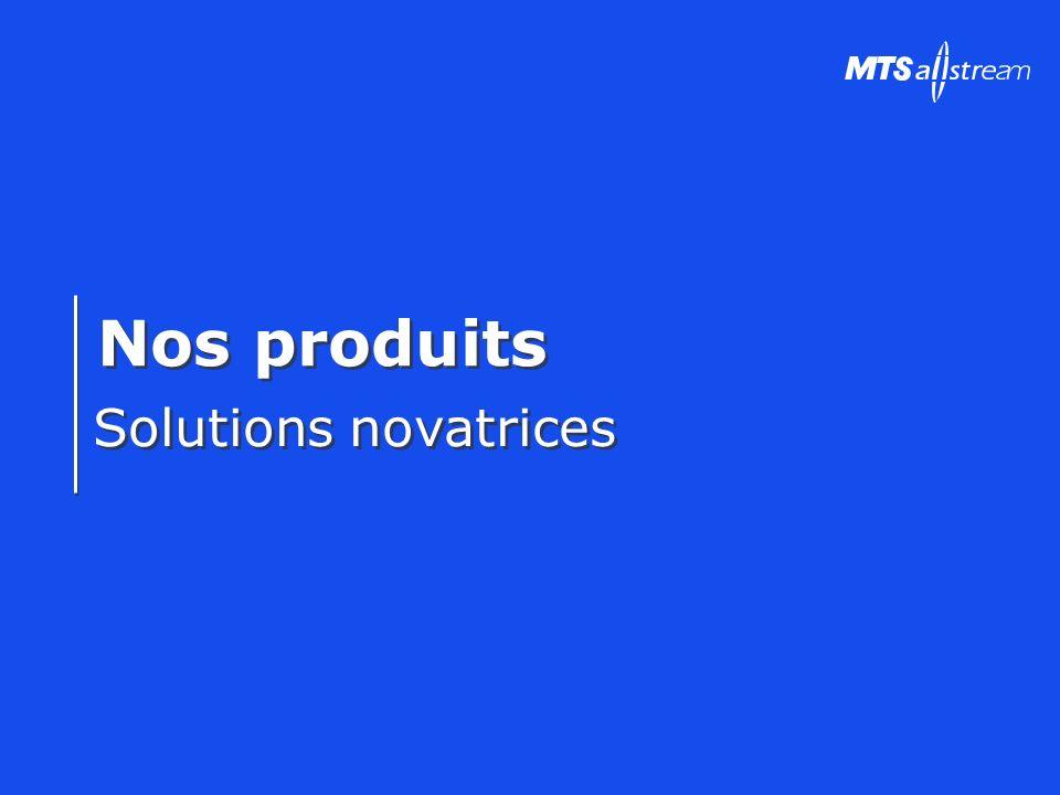 Nos produits Solutions novatrices