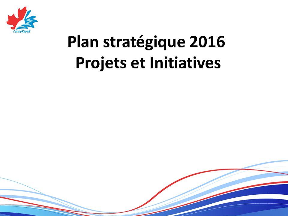 Plan stratégique 2016 Projets et Initiatives