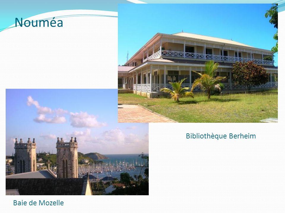 Nouméa Baie de Mozelle Bibliothèque Berheim