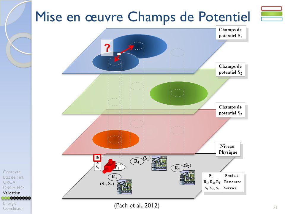 31 R1R1 P1P1 Champs de potentiel S 1 Champs de potentiel S 1 Champs de potentiel S 2 Champs de potentiel S 2 Champs de potentiel S 3 Champs de potenti