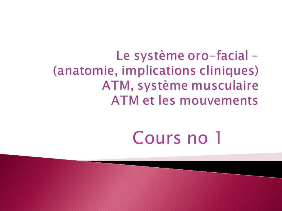 Cours no 1