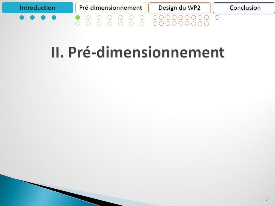 7 IntroductionPré-dimensionnement Design du WP2 Conclusion