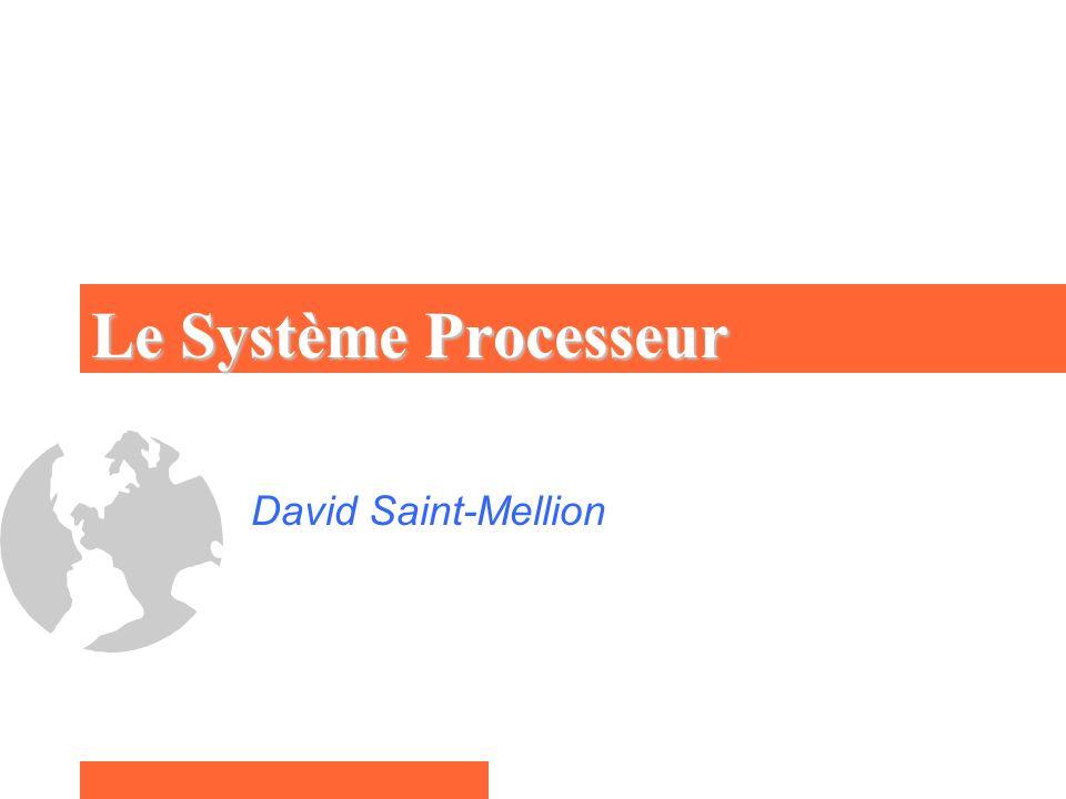 Un Système de Traitement Gérer une application Couplé par le Module E-S à l application Le Programme exécuté par le processeur
