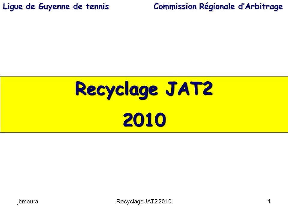 jbmouraRecyclage JAT2 20101 Recyclage JAT2 2010 Ligue de Guyenne de tennis Commission Régionale dArbitrage