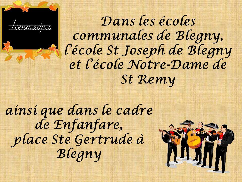 Musique à lécole et « Enfanfare » les 23-25-26 et les 27-28 septembre 2008 Organisation de lAdministration communale de Blegny, du Centre culturel de Blegny, de la Ligue des familles et de lASBL Enfanfare