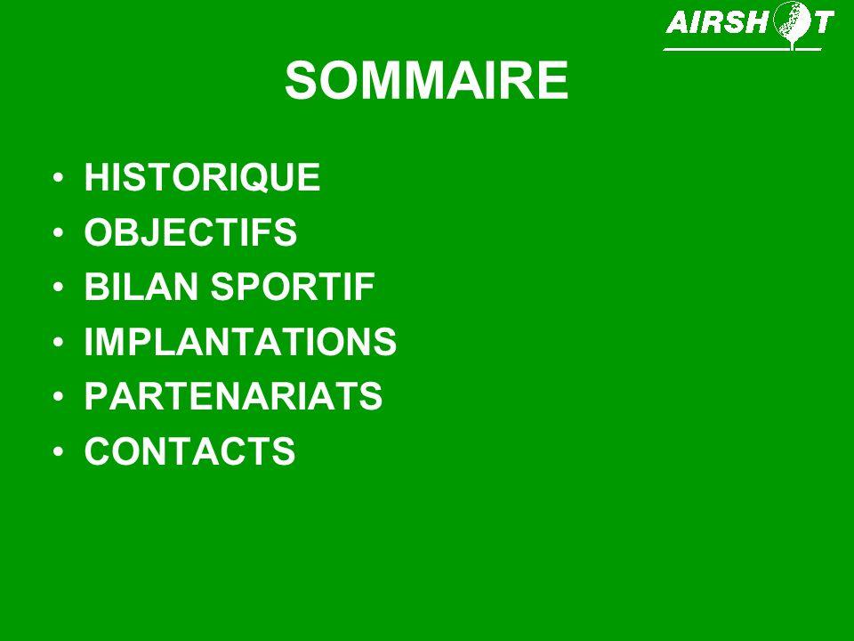 HISTORIQUE AIRSHOT est une association sportive créée en 1999.