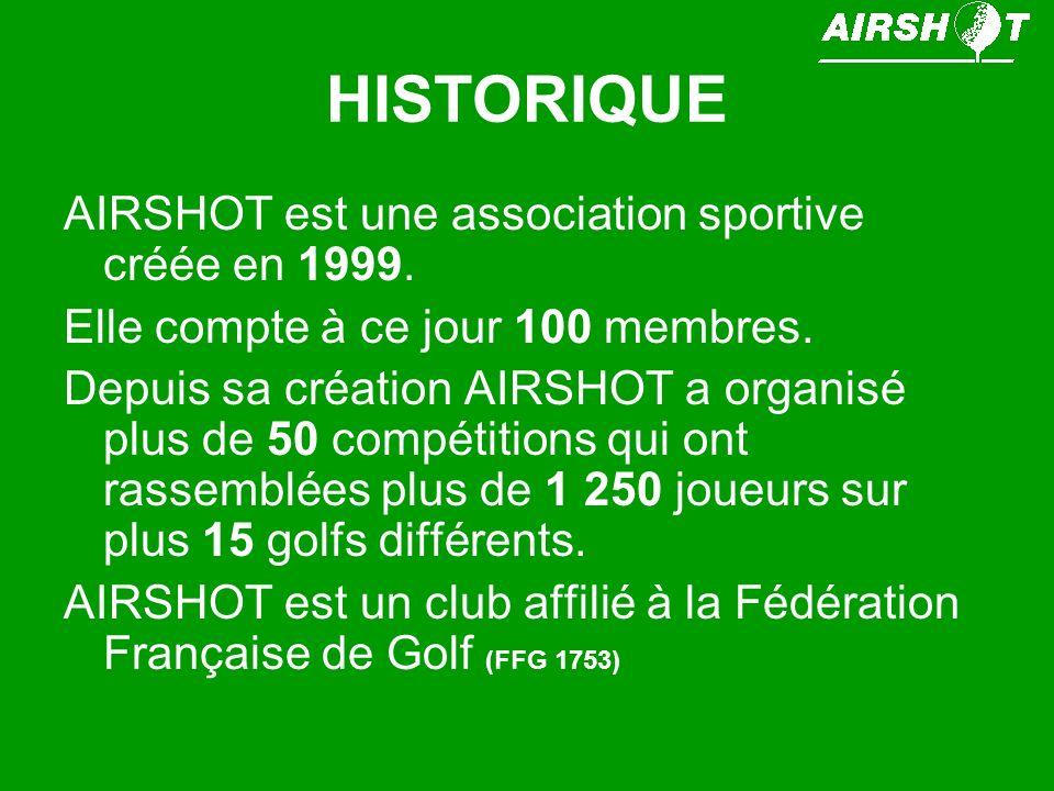 HISTORIQUE AIRSHOT est une association sportive créée en 1999. Elle compte à ce jour 100 membres. Depuis sa création AIRSHOT a organisé plus de 50 com