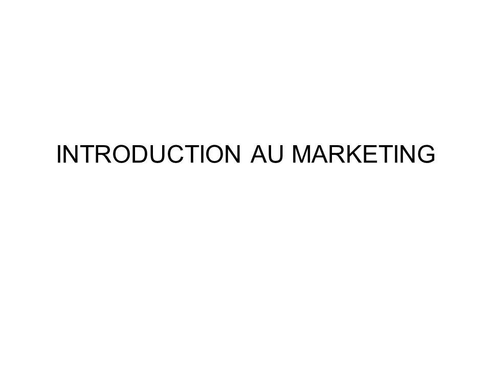 PROGRAMME Historique et définition du marketing Concept du marché et analyse La demande et le comportement du consommateur La stratégie dappréhension et les décisions stratégiques Le positionnement et le mix marketing