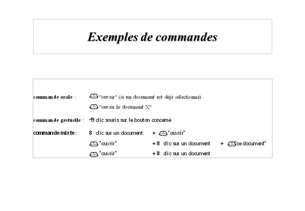 Exemples de commandes