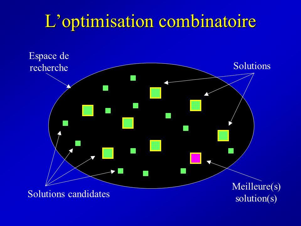 Exemples dalgorithmes dévolution Séléction Croisement MutationAccouplement Algorithme génétique Séléction Stratégie d évolution Mutation Système de fourmis Evolution trace 0.456 0.239 1.000 0.012 0.837 Mise à jour de Evolution vecteur P 0.456 0.239 1.000 0.012 0.837 Mise à jour de P PBIL Chaîne booléenne