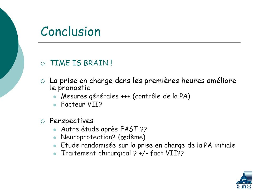 Conclusion TIME IS BRAIN .