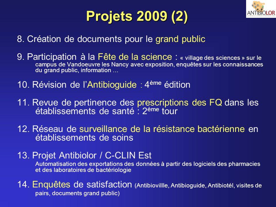 Projets 2009 (2) 8. Création de documents pour le grand public 9. Participation à la Fête de la science : « village des sciences » sur le campus de Va