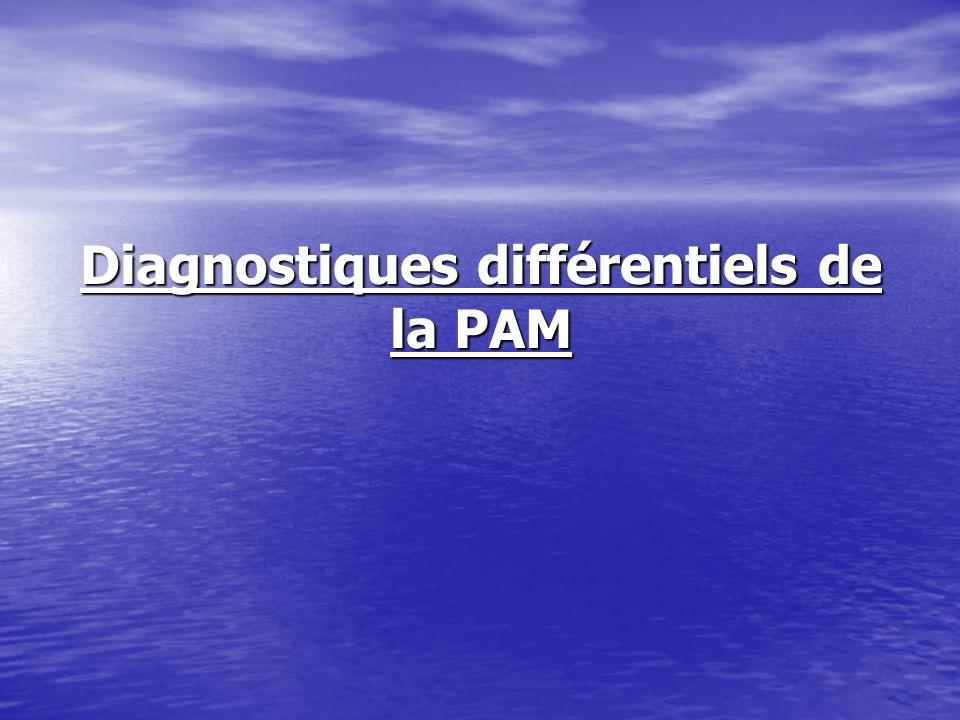 Diagnostiques différentiels de la PAM