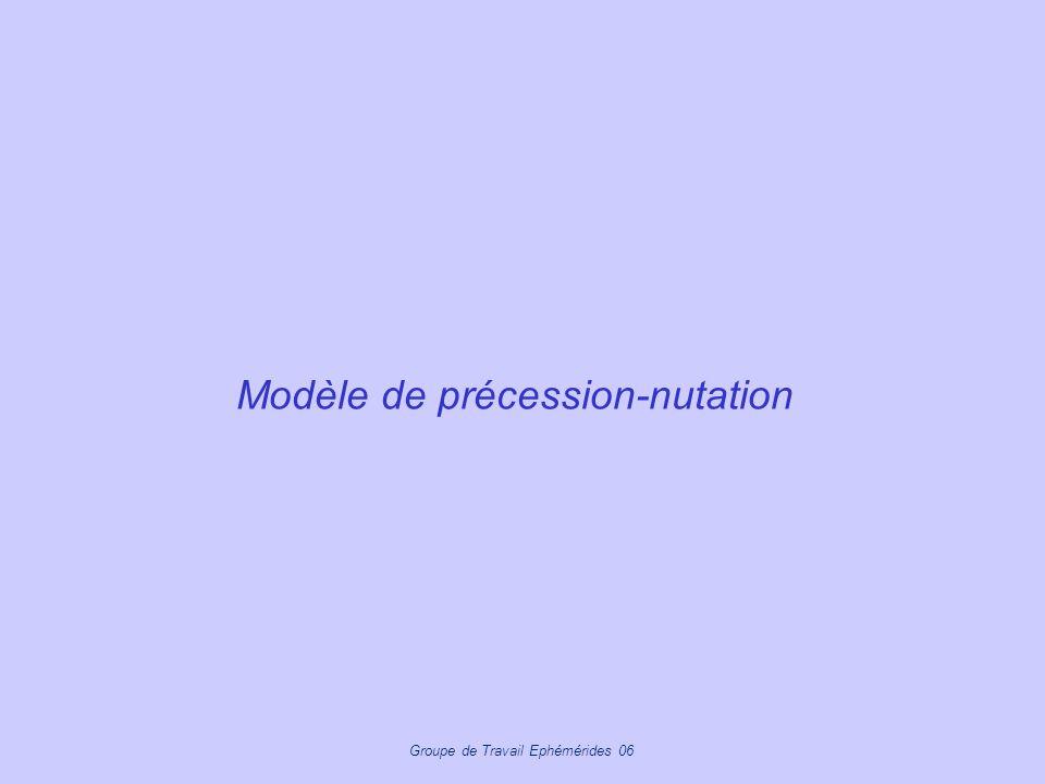 Groupe de Travail Ephémérides 06 Modèle de précession-nutation