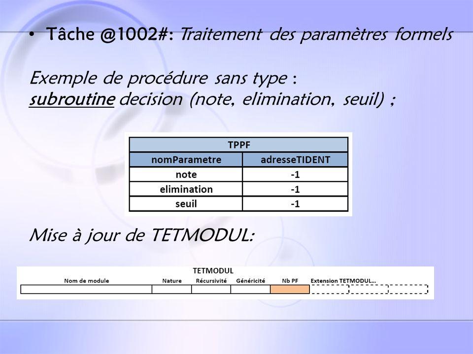 Tâche @1015#: Test sur la présence de récursivité Test sur la conformité de returns Mise à jour de lextension de TETMODUL