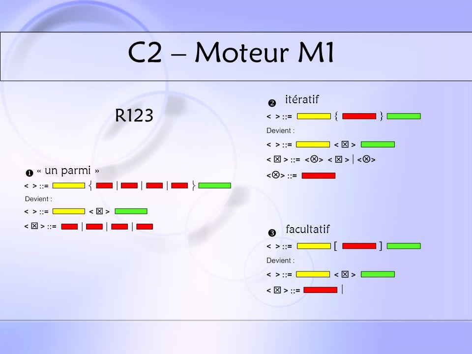 C2 – Moteur M1 R123