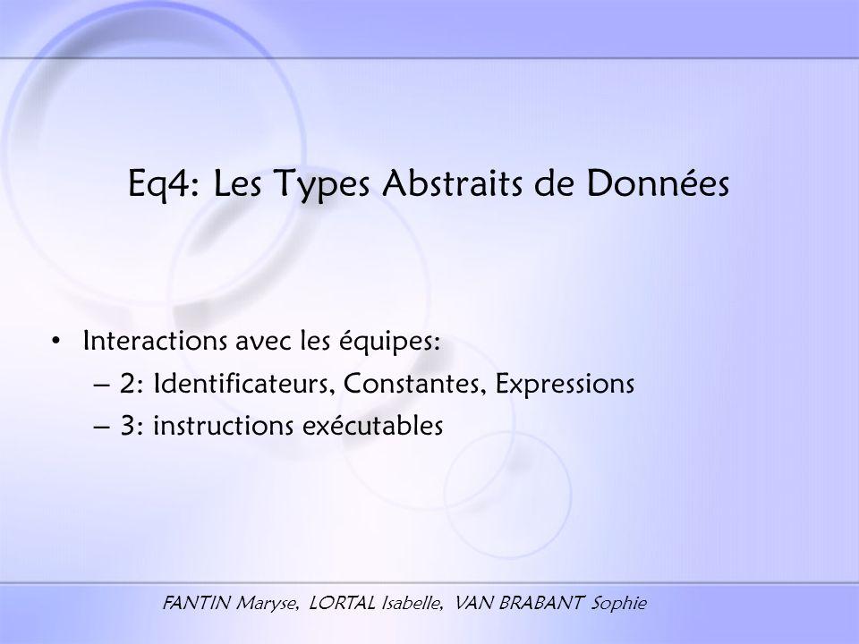 OBJECTIFS Compilation de lensemble des instructions TAD manipulées par ADT81 Utilisation dun langage OO: C++
