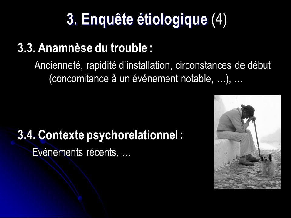 3.Enquête étiologique 3. Enquête étiologique (4) 3.3.