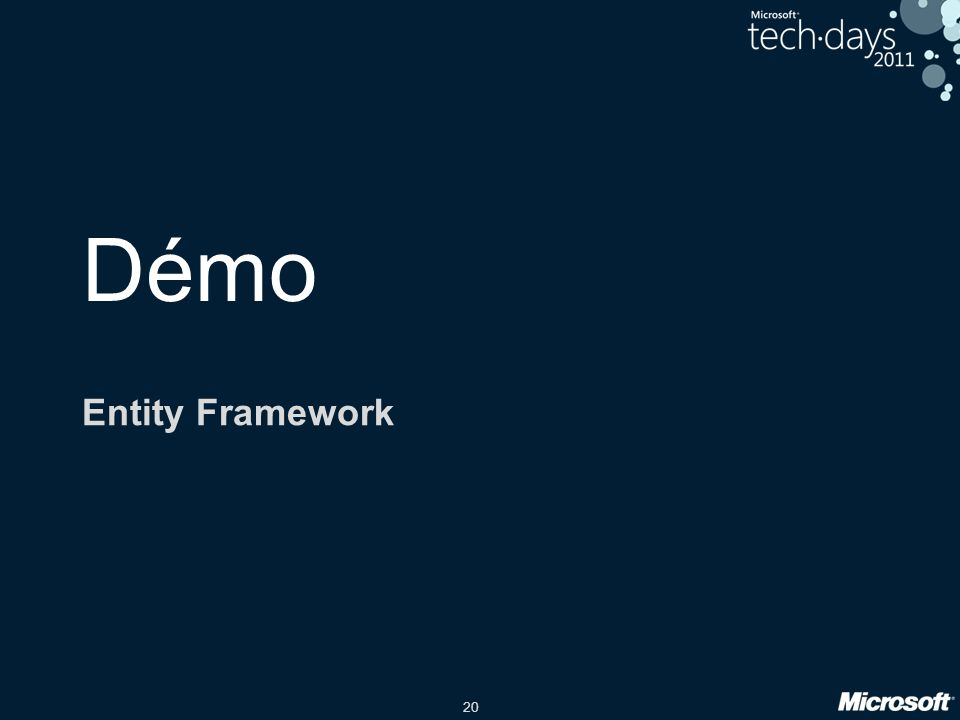 20 Démo Entity Framework