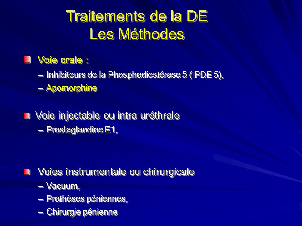 Trait Trait APOMORPHINE IXENSE ° ° ( TAKEDA ) UPRIMA ° ° ( ABOTT ) Effet Dopaminergique au niveau encéphalique