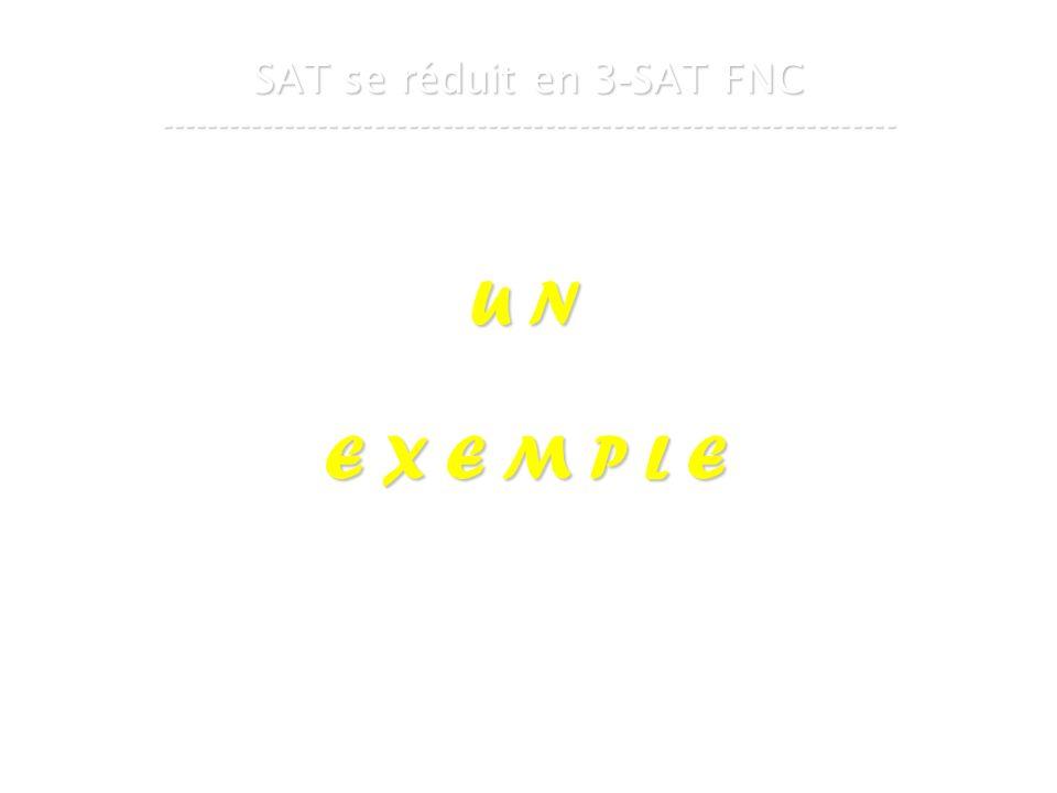 16 mars 2007Cours de graphes 7 - Intranet33 SAT se réduit en 3 - SAT FNC ----------------------------------------------------------------- U N E X E M P L E