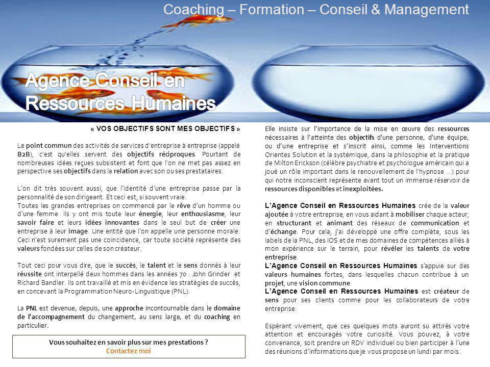 « VOS OBJECTIFS SONT MES OBJECTIFS » Le point commun des activités de services d entreprise à entreprise (appelé B2B), c est qu elles servent des objectifs réciproques.