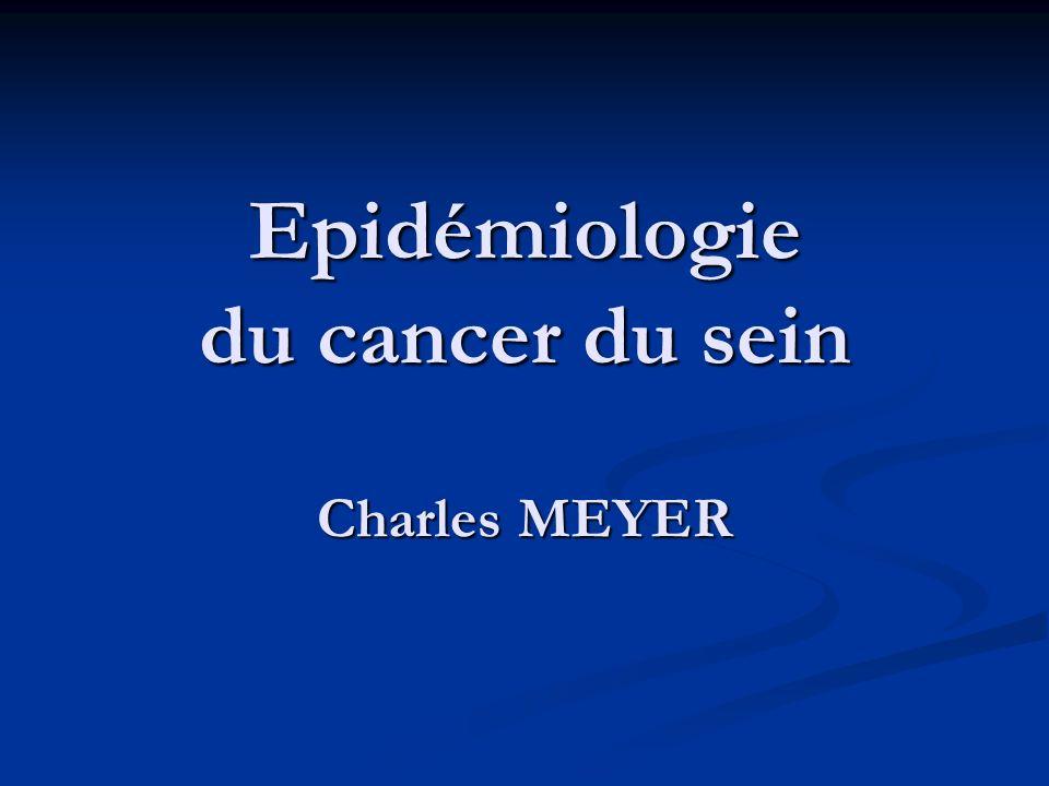 incidence du cancer du sein / âge (registre du Haut-Rhin) 57 % des cancers du sein
