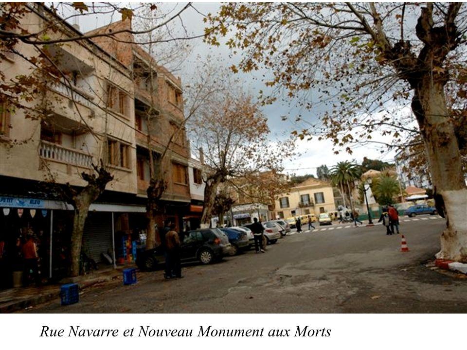 Rue Navarre et Nouveau Monument aux Morts