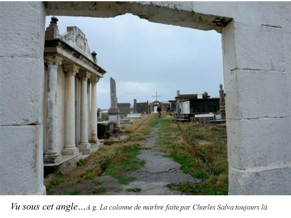 Vu sous cet angle… A g. La colonne de marbre faite par Charles Salva toujours là.