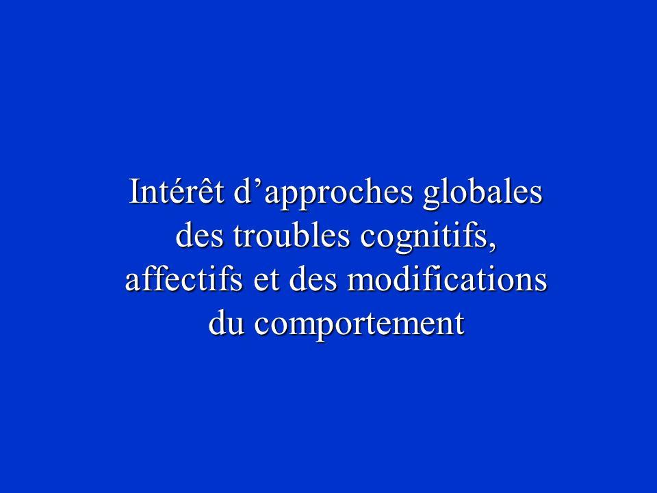 Intérêt dapproches globales des troubles cognitifs, affectifs et des modifications du comportement