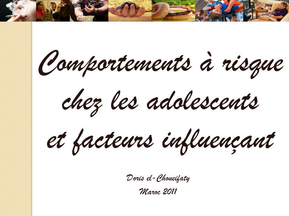 Comportements à risque chez les adolescents et facteurs influençant Doris el-Choueifaty Maroc 2011