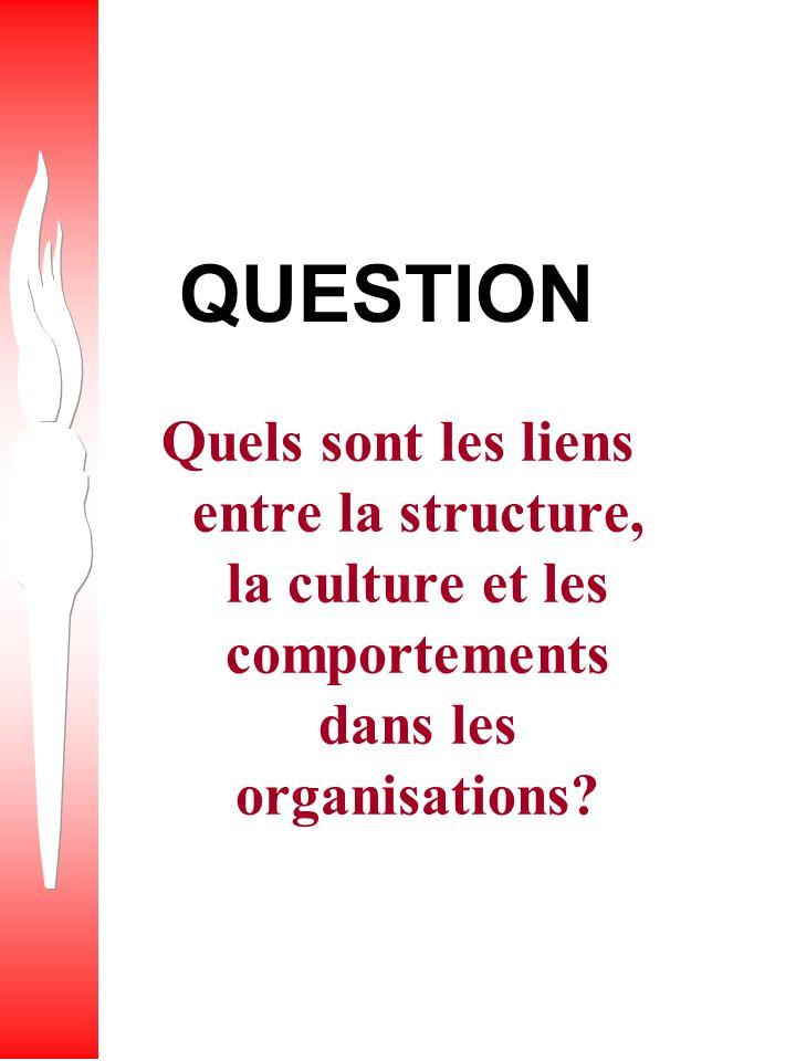 QUESTION Comment le pouvoir peut-il affecter le design d une organisation?