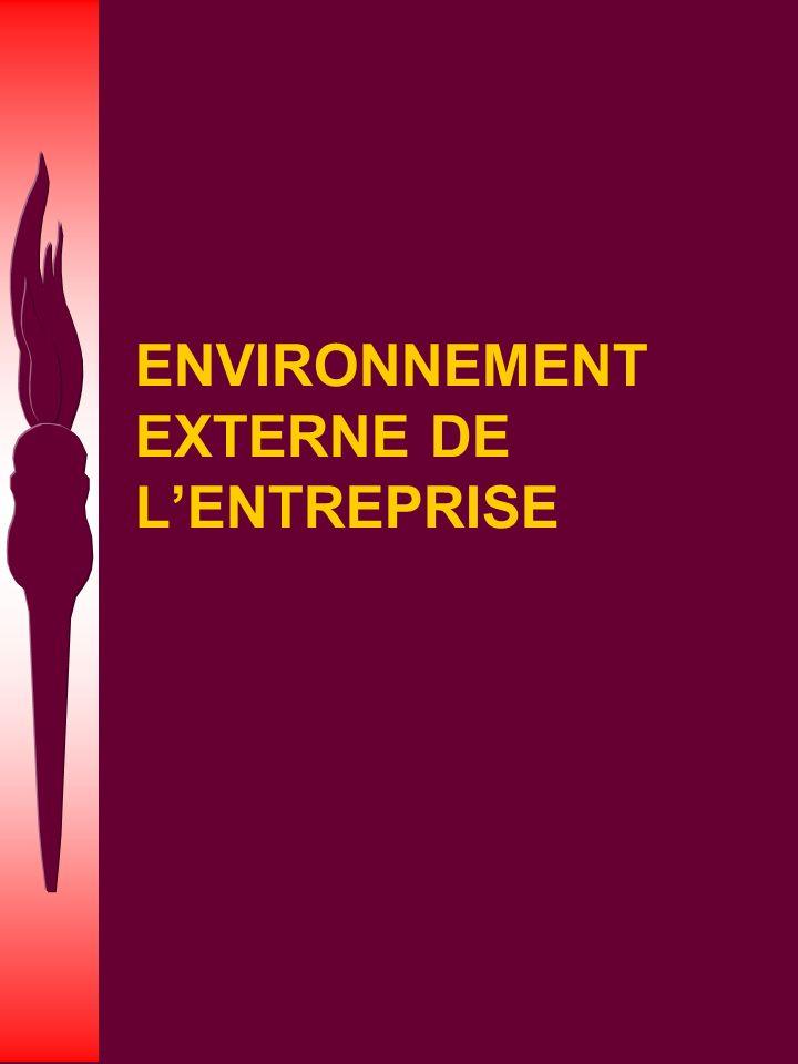QUESTION Quelles sont les composantes de l environnement externe ?
