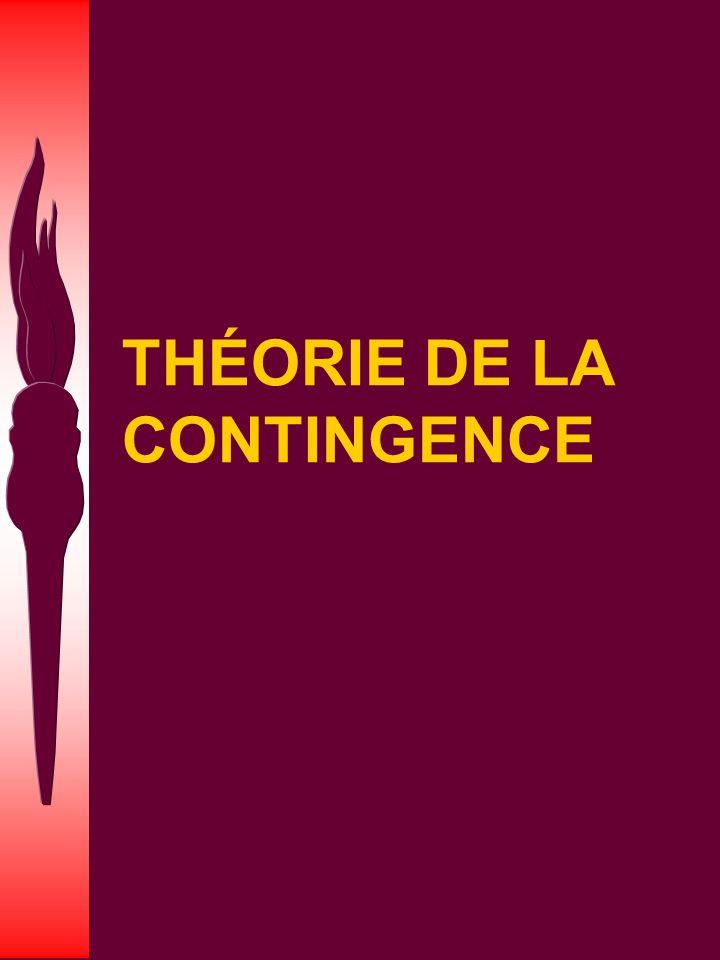 THÉORIE DE LA CONTINGENCE