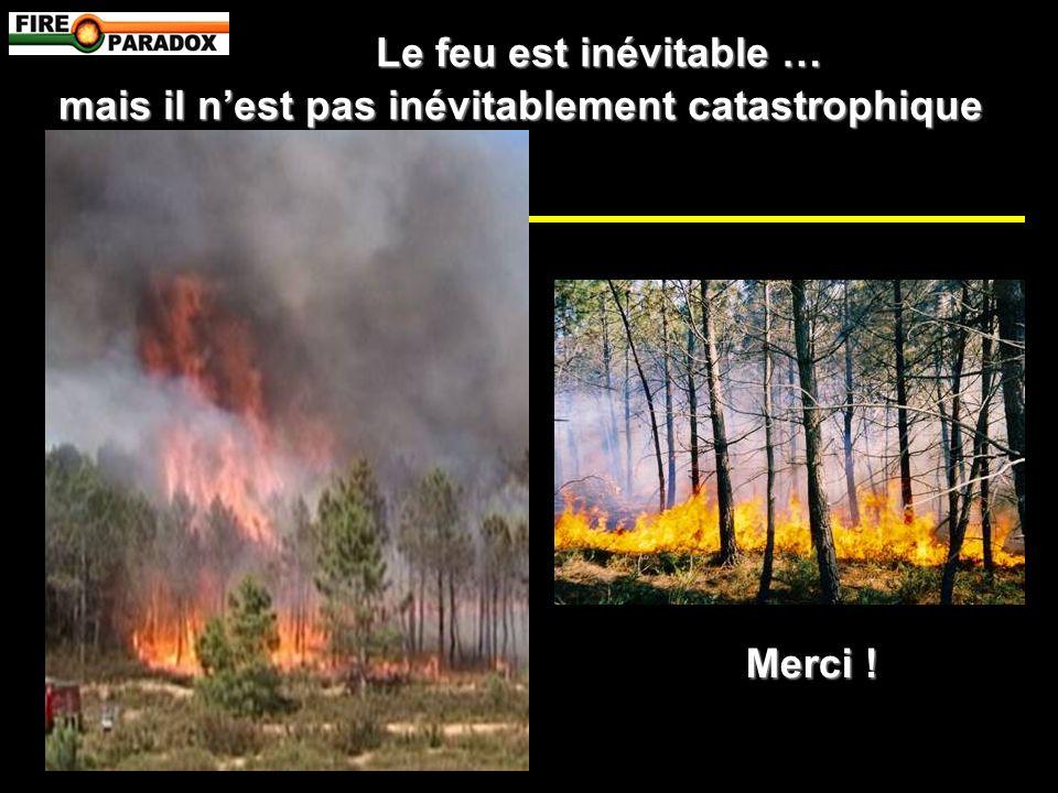 Le feu est inévitable … mais il nest pas inévitablement catastrophique Merci !