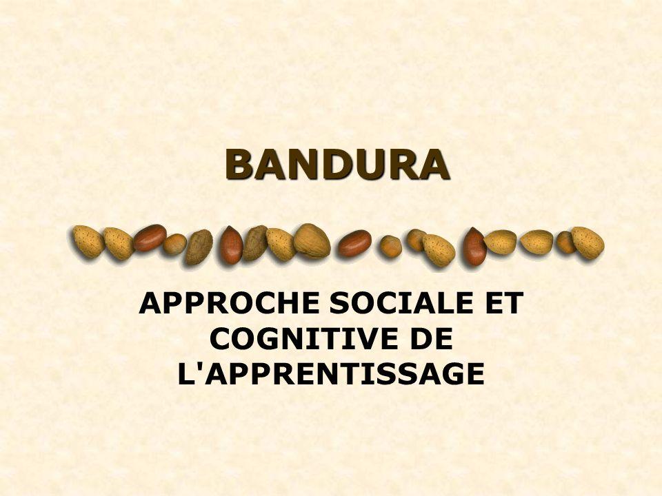 BANDURA APPROCHE SOCIALE ET COGNITIVE DE L'APPRENTISSAGE