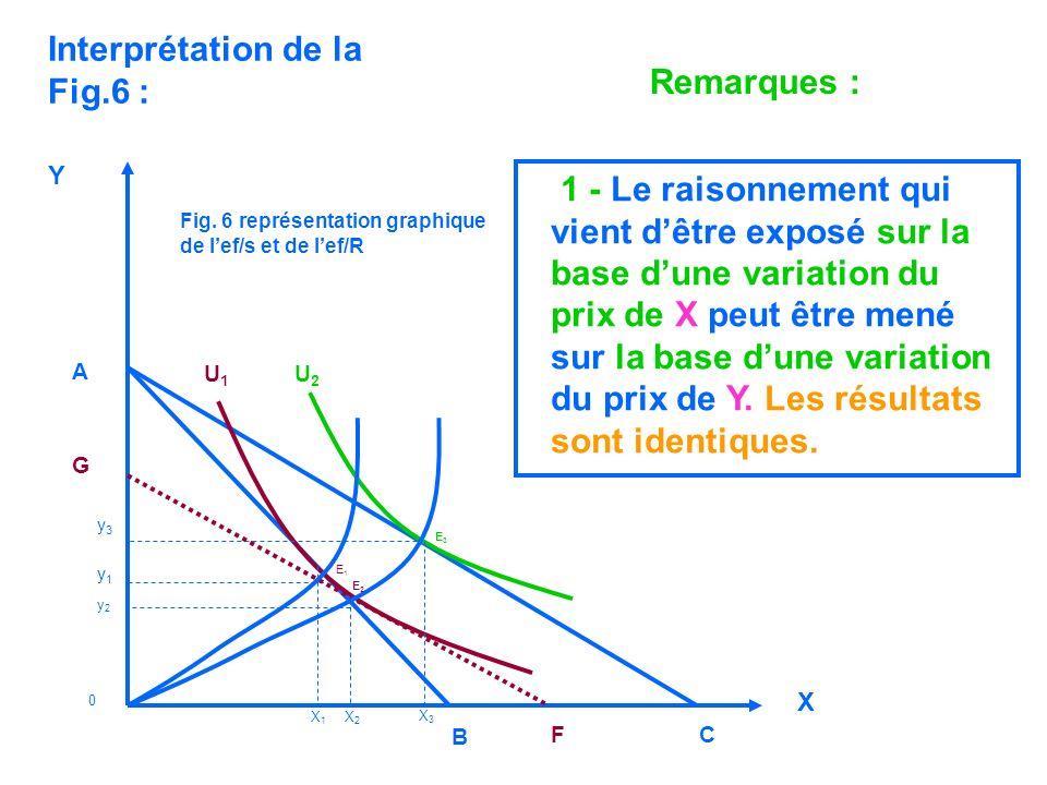 Y Remarques : 1 - Le raisonnement qui vient dêtre exposé sur la base dune variation du prix de X peut être mené sur la base dune variation du prix de