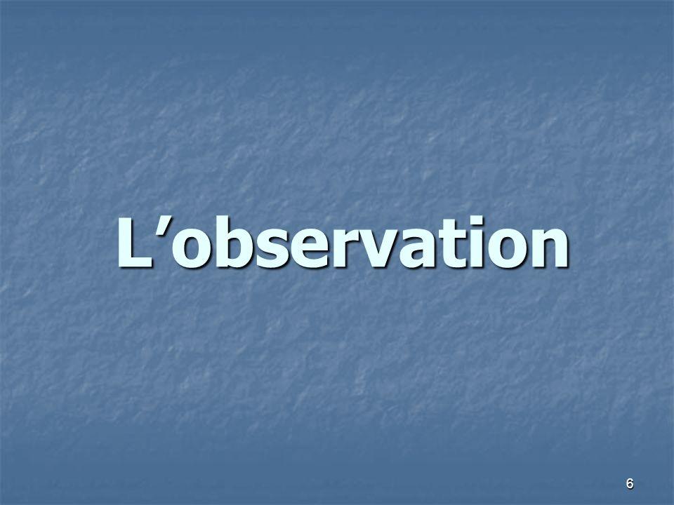 6 Lobservation