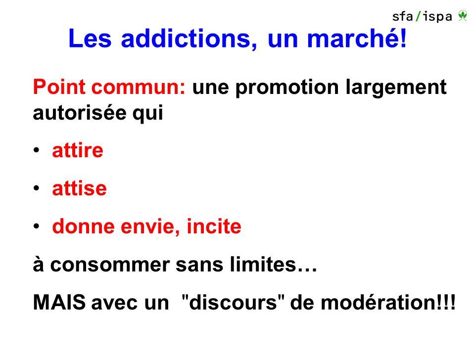 Les addictions, un marché.