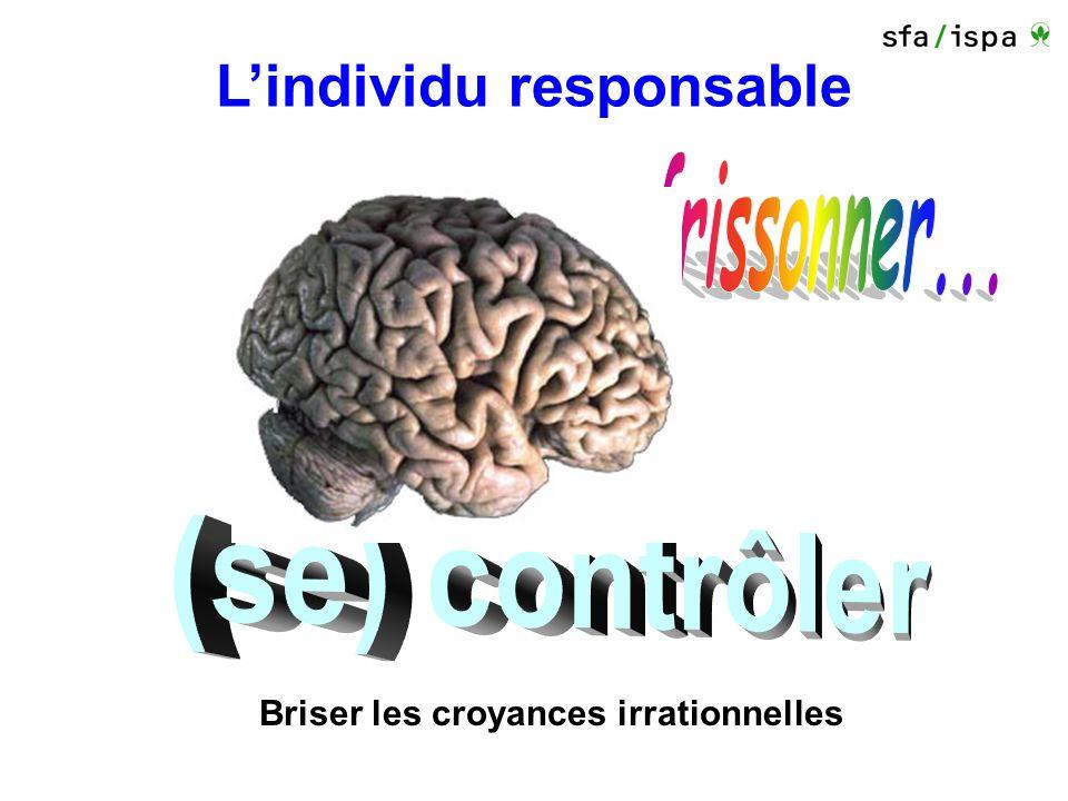 Lindividu responsable plaisir de … gagner illusion du contrôle vouloir défier le hasard Briser les croyances irrationnelles