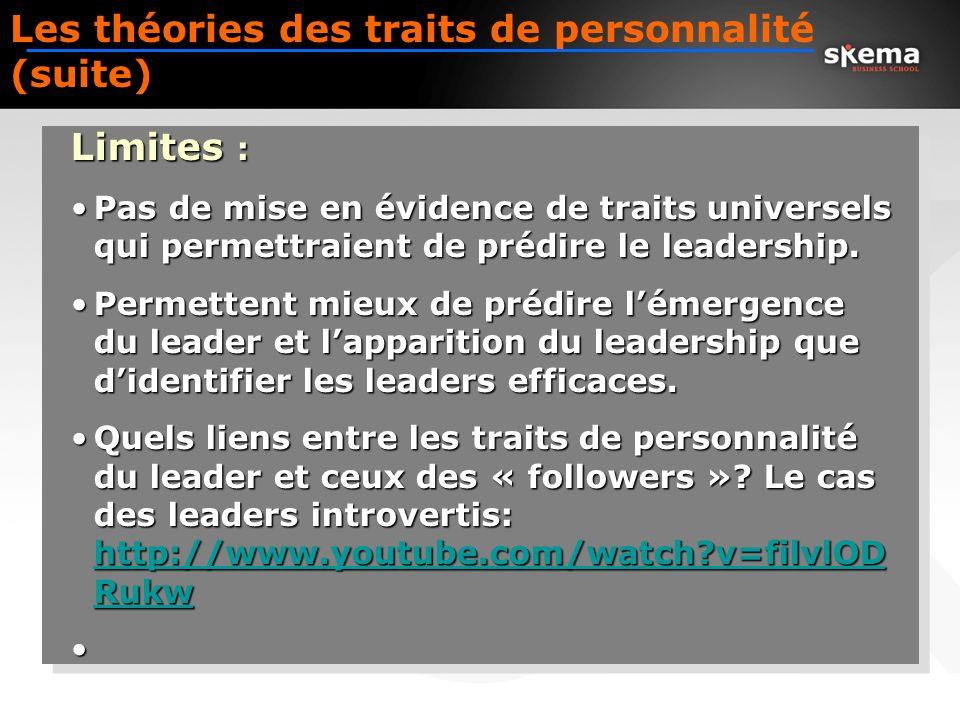 11 Un exemple de compétences de Leadership prises en compte en entreprise… Etre visionnaire –Rendre le futur visible et possible Mobiliser –Assurer un