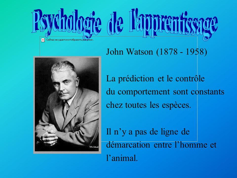 Le béhaviorisme fut fondé au début du XXe siècle par le psychologue américain John B.Watson