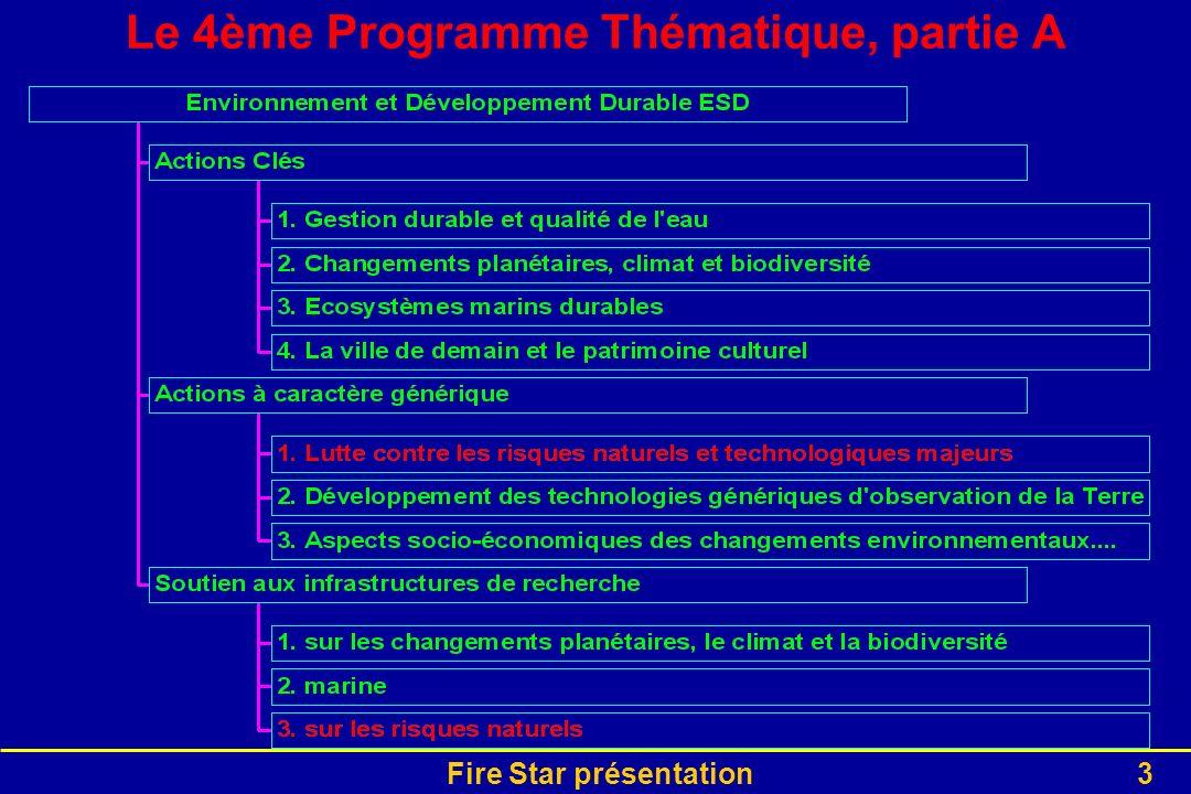 Fire Star présentation3 Le 4ème Programme Thématique, partie A