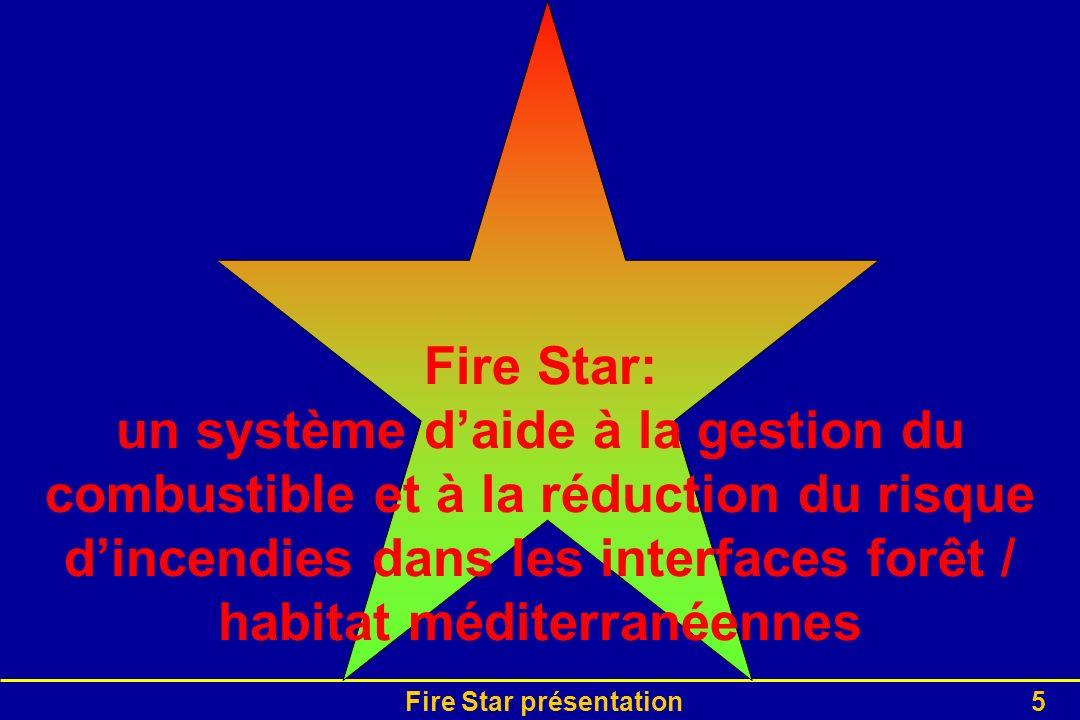 Fire Star présentation5 Fire Star: un système daide à la gestion du combustible et à la réduction du risque dincendies dans les interfaces forêt / hab