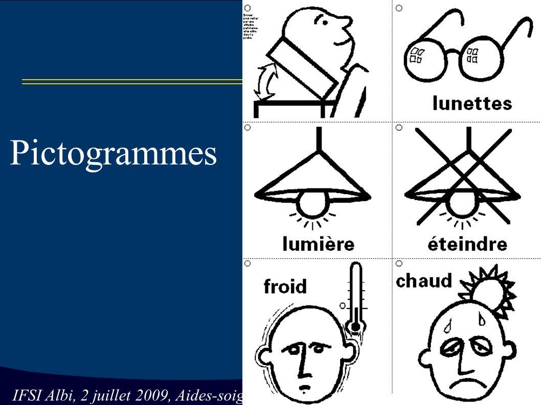 IFSI Albi, 2 juillet 2009, Aides-soignantes Pictogrammes