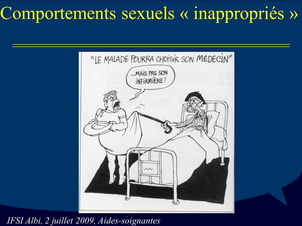 IFSI Albi, 2 juillet 2009, Aides-soignantes Comportements sexuels « inappropriés »