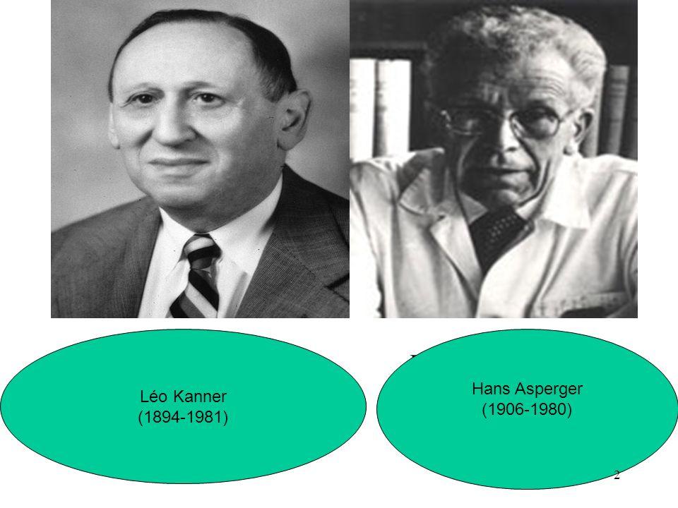 Hans Asperger Léo Kanner (1894-1981) Hans Asperger (1906-1980) 2