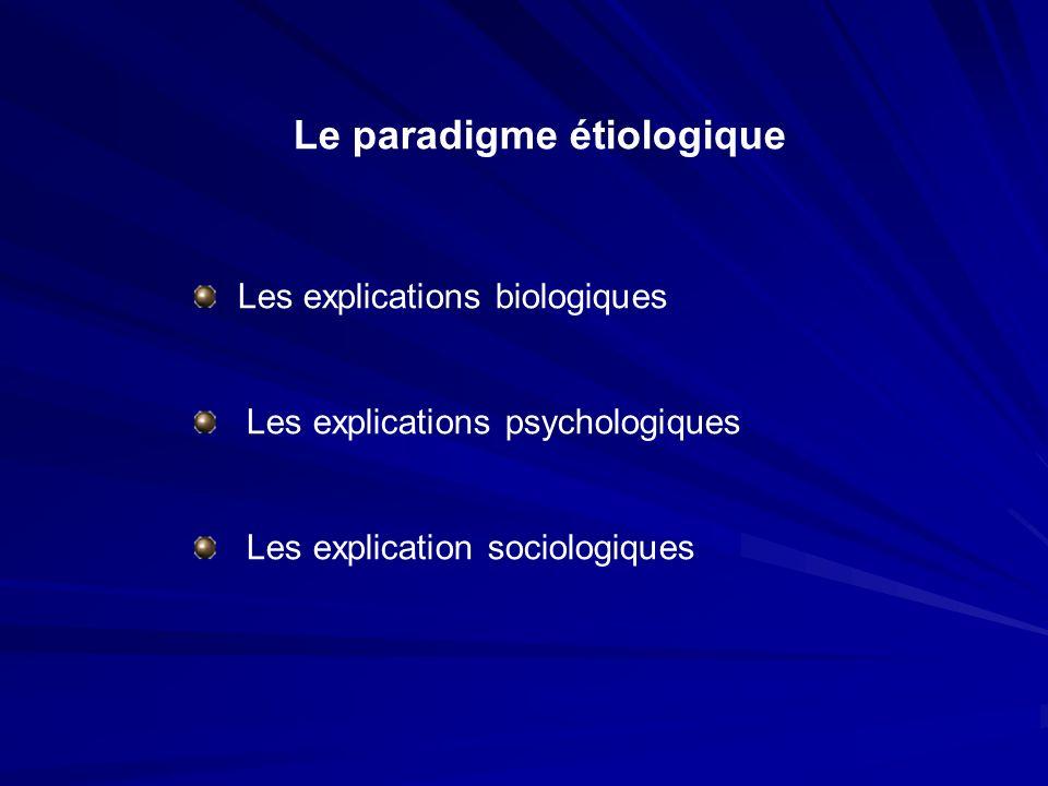 Le paradigme étiologique Les explications biologiques Les explications psychologiques Les explication sociologiques