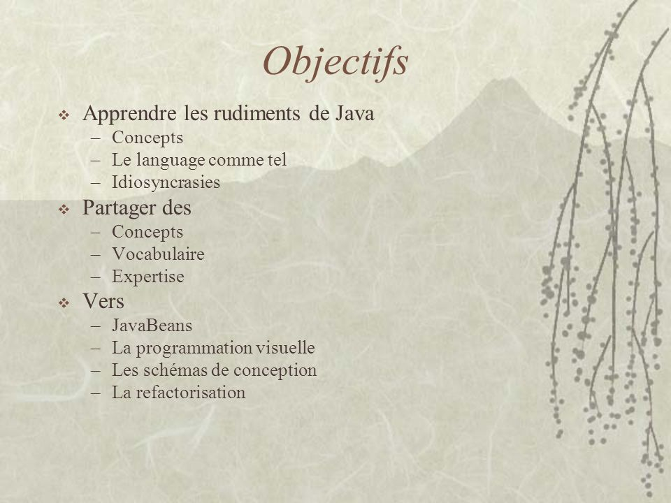 Définition dune classe package examples; import java.util.*; /** * This type was created in VisualAge.