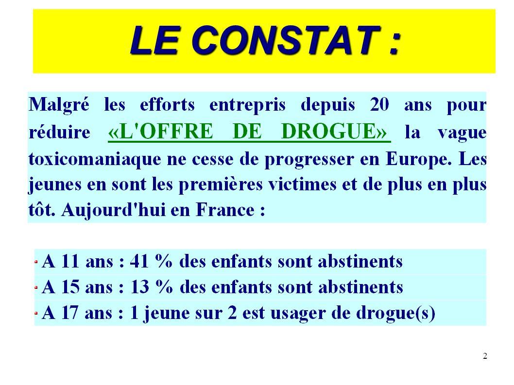 2 LE CONSTAT :